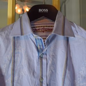Robert Graham Striped Paisley shirt